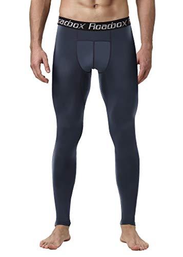 Roadbox Laufhose Herren Trainingshose Cool Compression Tights, Funktionswäsche Pants- ultraleichte, schnelltrocknende, strapazierfähige, Komfortable Sportleggings für Sport, Radfahren, Yoga, Wandern