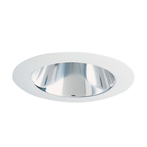 Wh Open-trim (Juno Lighting 442C-WH 4-Inch Deep Cone Recessed Trim, Clear Alzak with White Trim by Juno Lighting)