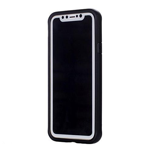 iphone X Hülle, Voguecase Silikon Schutzhülle / Case / Cover / Hülle / [Hochwertiges TPU]+[langlebiger PC]+[Stoßfestes TPU] (WBC) Gel Skin Handyhülle Premium Kratzfest TPU Durchsichtige Schutzhülle fü Don 1-Schwarz