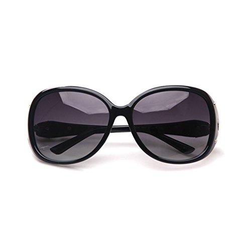 ZLHL Frauen Polarisierte Sonnenbrille Big Frame Driving Sonnenbrille 100% UV-Schutz Brillen (Farbe : Schwarz)