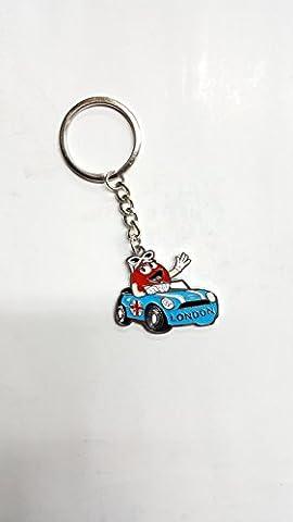 Londres British cadeau souvenir Porte-clés Porte-clés Angleterre par GN entreprises, Métal, Silver, Smiley Car