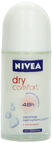 Nivea Dry Comfort Deodorant Roll-On, 1.7 Fluid Ounce (Pack of 2) by Spicy World of USA, Inc