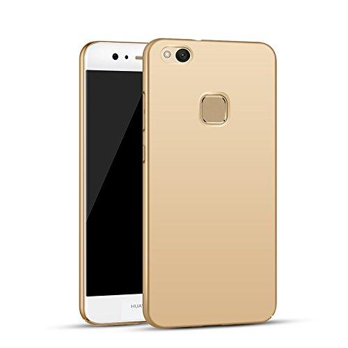 Apanphy Huawei P10 Lite Hülle , Hohe Qualität Ultra Slim Harte Seidig Und Shell Volle Schutz Hinten Haut Fühlen Schutzhülle für Huawei P10 Lite, Gold