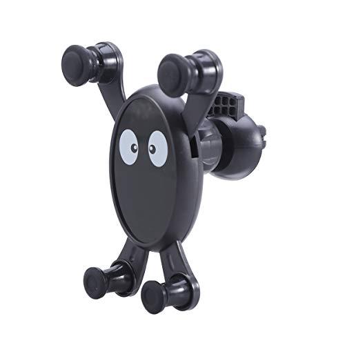 Cartoon Muster Fahrzeug Montiert Multi Funktion ABS Schwerkraft Fahrzeug Outlet Halterung Für Navigator Telefon Persönliche Digitale Gerät Größe 3 (Schwarz) -