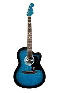 Lindo 933C Apprentice Series Cutaway Acoustic Guitar with Carry Case - Blue