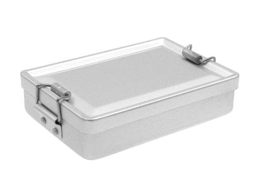 Fibega Aluminium Survivalkit Box mit Dichtring und Rollenscharnier, 12x3x9cm, 50g