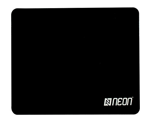 Neon Natural Rubber Gaming Mouse Pad With Skid Resistant Surface (Black)