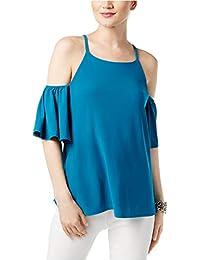 fb0346c9b0bfcd INC International Concepts Women s Cold-Shoulder Flutter-Sleeve Blouse