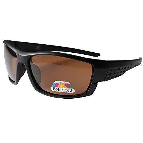 JU DA Sonnenbrillen Polarisierte Sonnenbrille Männer Frauen Platz Marke Design Klassische Männliche Schwarze Sport Sonnenbrille Für Männer Laufwerk Goggle Gafas schwarz braun 2 sandschwarz