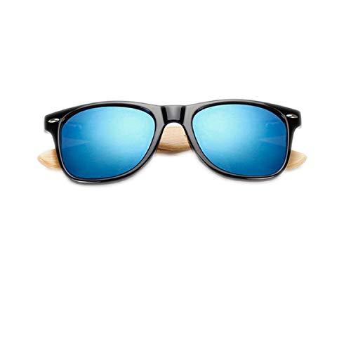 WERERT Sportbrille Sonnenbrillen Retro Wood Sunglasses Men Bamboo Sunglass Women Sport Goggles Gold Mirror Sun Glasses