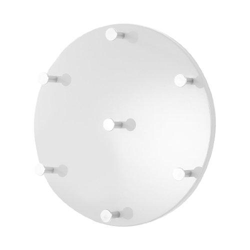 HAKU Möbel 42385 Wandgarderobe 5 x 35 cm, weiß  chrom  nickel