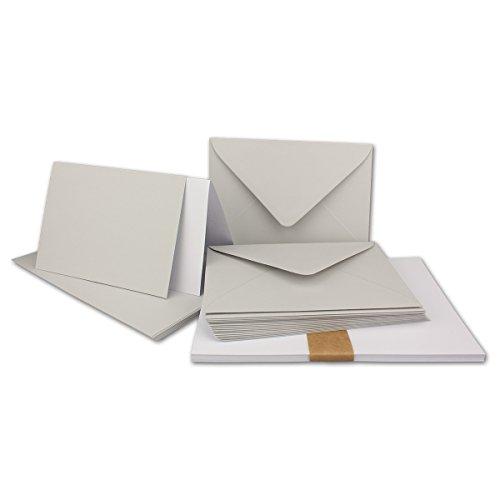A5/C5 Sets Couleur FarbenFroh Double Carte avec enveloppe et avec Fermeture adhésive 150 Sets 35-Hellgrau