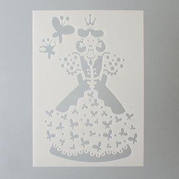 efco Prinzessin Schablone in 2Designs, Kunststoff, transparent, A5