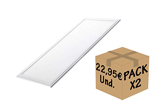 FactorLED Pack 2x Panel LED 60x30 cm 24W
