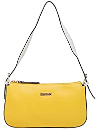 ESBEDA Yellow/White Color Solid Pu Synthetic Material Hand Bag For Women