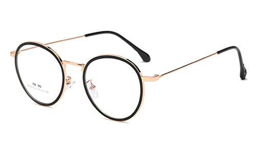 Flexible TR90 Frame Runde Brille Retro Klare Linse Brille Unisex Brillenfassungen,Ultraleicht,...