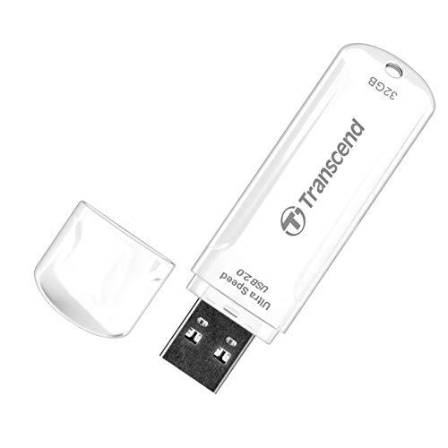 Transcend JetFlash 620 USB 2.0 8GB Pen Drive (White)