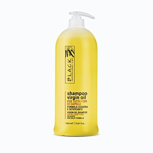 Black Professional - Virgin Oil - Shampoing à usage fréquent - Cheveux soyeux - 1 000 ml