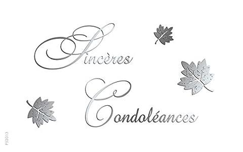 Eurek'art Adulte P52013 Pochette de 5 Cartes sincères condoléances avec