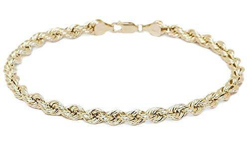 18 karat 750 Gold Kordel Armband Gelbgold 5 mm. Breit (19)