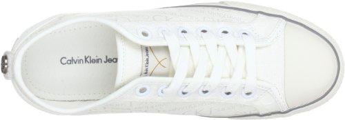 Calvin Klein Jeans LEN LOGO JACQUARD, Scarpe stringate uomo bianco (Weiß (Wht))