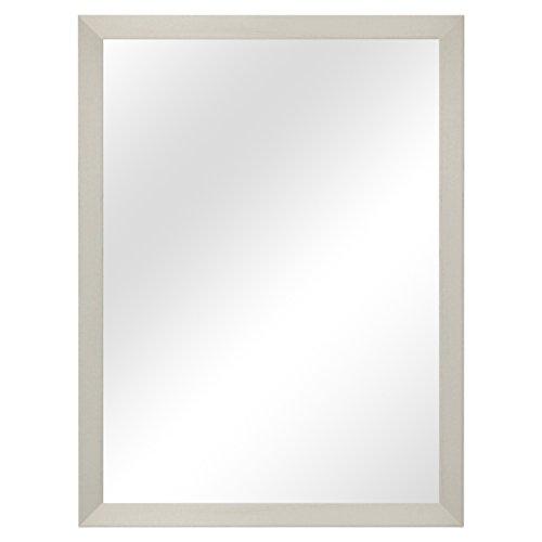 Wandspiegel Garderobenspiegel Frisierspiegel Flurspiegel Barspiegel 56,5x76,5cm - Weiss