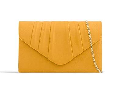 LeahWard Women's Suede Glitter Clutch Handbags Purse Wedding Bags Evening Handbags 308