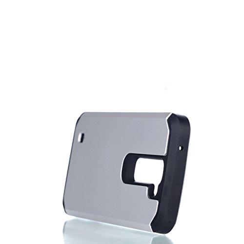 """iPhone 6 /6S hülle ,Camiter Rosengold Stoßfest Robuste Rüstung Dual Layer Weiche Silikon Plastik Schutzhülle Case Cover Schale Fall Tasche Hülle für Apple iPhone 6 /6S 4.7""""+ Freies Reinigungstuch Silber-"""