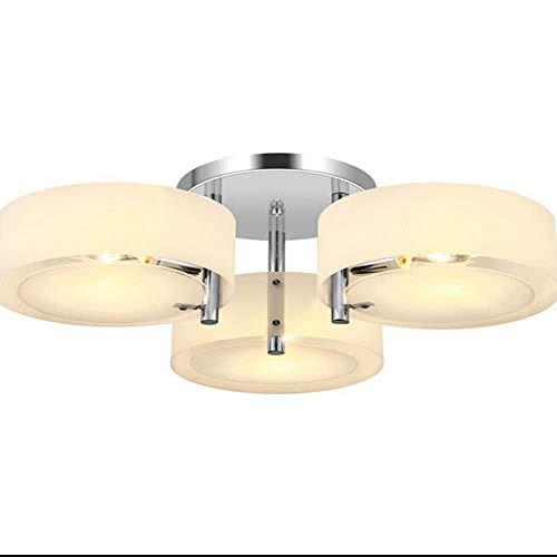 Lamp Acryl Leuchter Mit 3 Lichtern (Chromveredelung), Deckenleuchte, Spül Halterung, Für Studienraum/Büro, Schlafzimmer, Wohnzimmer [Energieklasse A] -