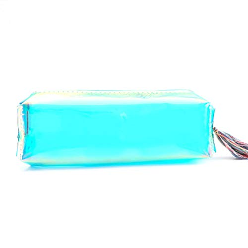 Dongyush Inkomparable Large Transparent Clear Pencil Case Cute Pencil Bag Stationary mit Zipper(Green) -
