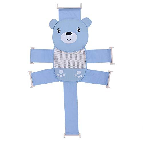 ViaGasaFamido Alfombra de Baño para Bebés Productos para El Baño En El Hogar Productos Antideslizantes Cruz Larga para Bebés Ducha de Baño Red Malla Ducha Asiento de Soporte(Blue)