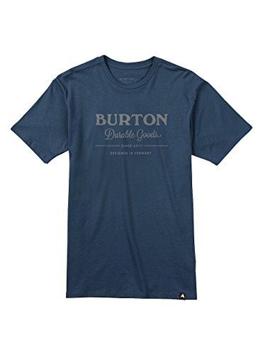 Burton Herren Durable Goods Shortsleeve T-Shirt, Mood Indigo, S (Burton Shirt Blau)