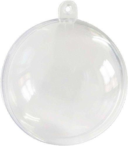 Adornos de Navidad Uhat®, bolas transparentes para rellenar y decorar, por 12