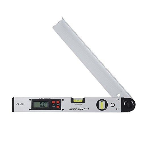 Proster Digitaler Winkelmesser 0-225 ° Digitaler Winkelmesser mit LCD-Wasserwaage 400mm / 16 Zoll Digitaler Neigungsmesser Winkelmessgerät für vertikale horizontale Doppel-Wasserwaage