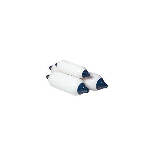 Orangemarine Serie F Bootsfender, Weiß/Blau, 11,5 x 40,6 cm