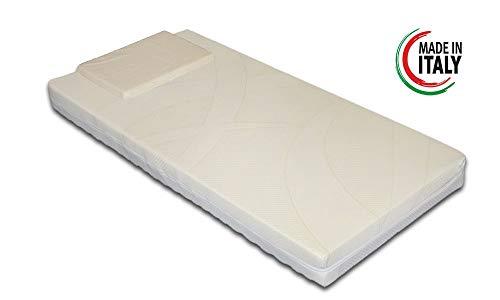 Materasso per culla/lettino mod. bimbo antisoffoco misura 60x125 cm con rivestimento sfoderabile e lavabile in lavatrice con guanciale antisoffoco in omaggio.
