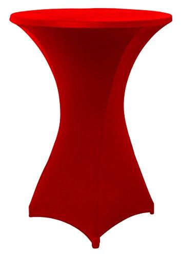 Stretchhussen für Stehtische und Bistrotische in rot, Überwurfhusse für einen Tischdurchmesser von 60 - 65 cm, Stehtischhussen, Outdoor-Tischdecken by Floyen Home