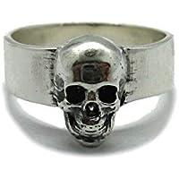 Anello da uomo in argento massiccio 925 Cranio R001861