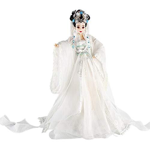 DoCori Muñeca China con Traje Antiguo de Seda Oriental, muñecas de Seda, muñeca de niña de 12.5 Pulgadas para decoración de Mesa
