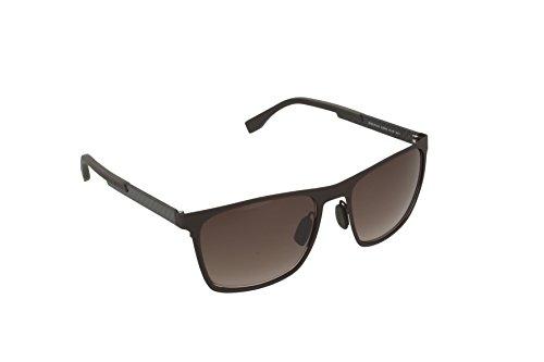 BOSS Hugo Herren 0732/S Ha Sonnenbrille, Braun (Matte Carbon/Brown Shaded), 57