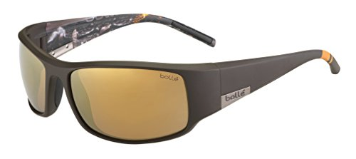Bollé Sonnenbrille King, Matte Brown Sea/Polarized Inland Gold Oleo, 12120