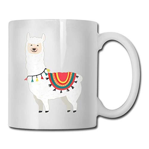 Nisdsgd Cute Cartoon Animal Art Llama & Alpaca Cocoa Mugs Ceramic Cocoa Cups with Large C-Handle Funny Coffee Mug Cool Coffee Tea Cup 11 Ounces for Family and Friend 3.14W x 3.74H(8x9.5cm) 16 Oz Tall Iced Tea