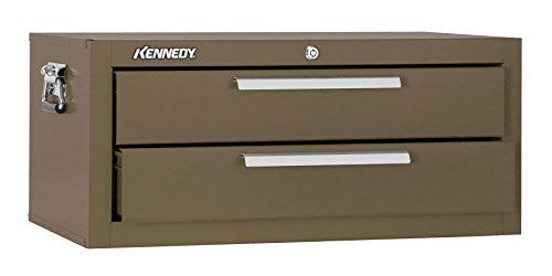 Kennedy Verarbeitung mc22b Schlosserhammer Schränkchen mit 2Schubladen Boden mit Reibung Folien, 53,3cm braun Falten, 2602B Kennedy Werkzeug-boxen