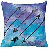 Aquarelle flèches Taie d'oreiller 45,7 x 45,7 cm Motif