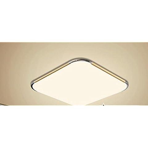 LYXG Acrilico a Led luce da soffitto lampada in alluminio soggiorno lampada LED luce da (Oro Rotonda A Cupola A Soffitto)