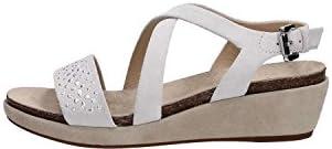 Geox D62P6F Abbie Black - Sandalias de vestir de Piel para mujer, color Blanco, talla 36 EU