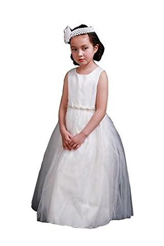 WXJ Girls Children Summer Waist Rhinestone Dress Show Princess dress , 140cm