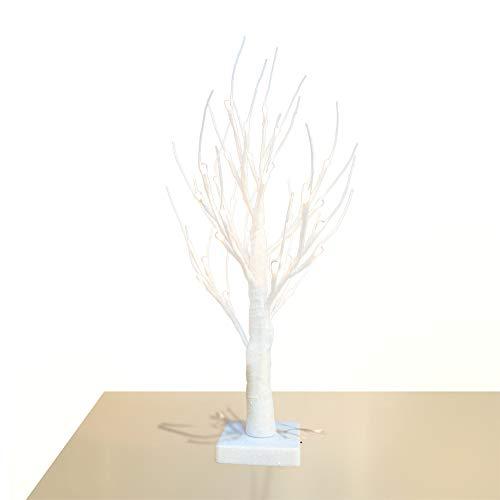 Obelon albero ramoscello con luce, glitter colorati, pre-illuminato, 32 luci a led, altezza 1,8 piedi, funzionamento a batteria, per natale, pasqua, festa, vacanze, decorazioni casa - cristallo bianco