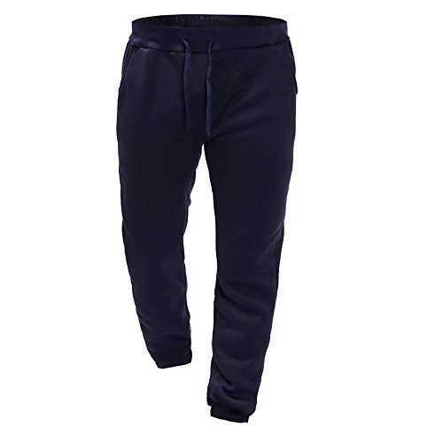 Pantalone lungo ginnastica uomo, casual chino cargo pantaloni slim fit jogging sport 2019037(xxl,marina militare)