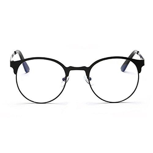 Zhuhaixmy Anti-Blau leichte Brille einfach Metallrahmen Brillenmode Retro Runde Frame Brille